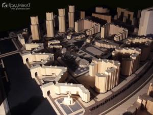 Макет проекта многофункционального комплекса 29 квартал на юго-западе Санкт-Петербурга 2