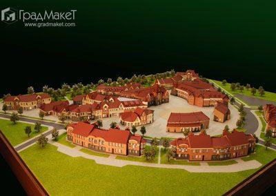 Макет коттеджного посёлка в городе Гусев