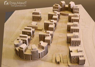Макет жилого комплекса со встроенной автостоянкой «Дом у моря»
