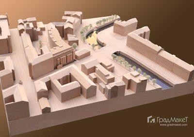 Макет для архитектурного конкурса Карповка
