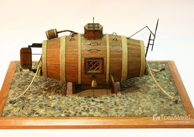Макет потаеное судно