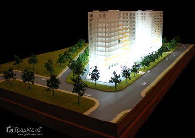 Концептуальный макет административных зданий