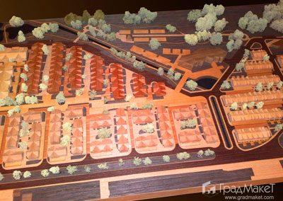 Макет жилого квартала в Коломягах «Нормандия»