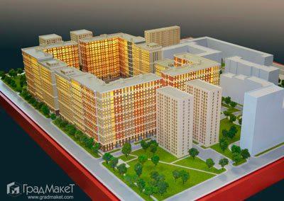 Макет жилого комплекса по адресу Московский проспект 65